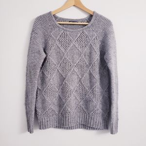 American Eagle knit crew neck wool blend sweater